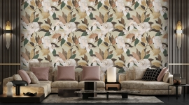 Modern design for living room and gran paper decoration for hang